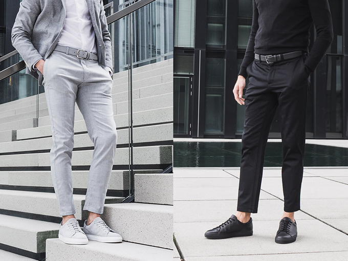 Matching Minimalist Belts and Sneakers