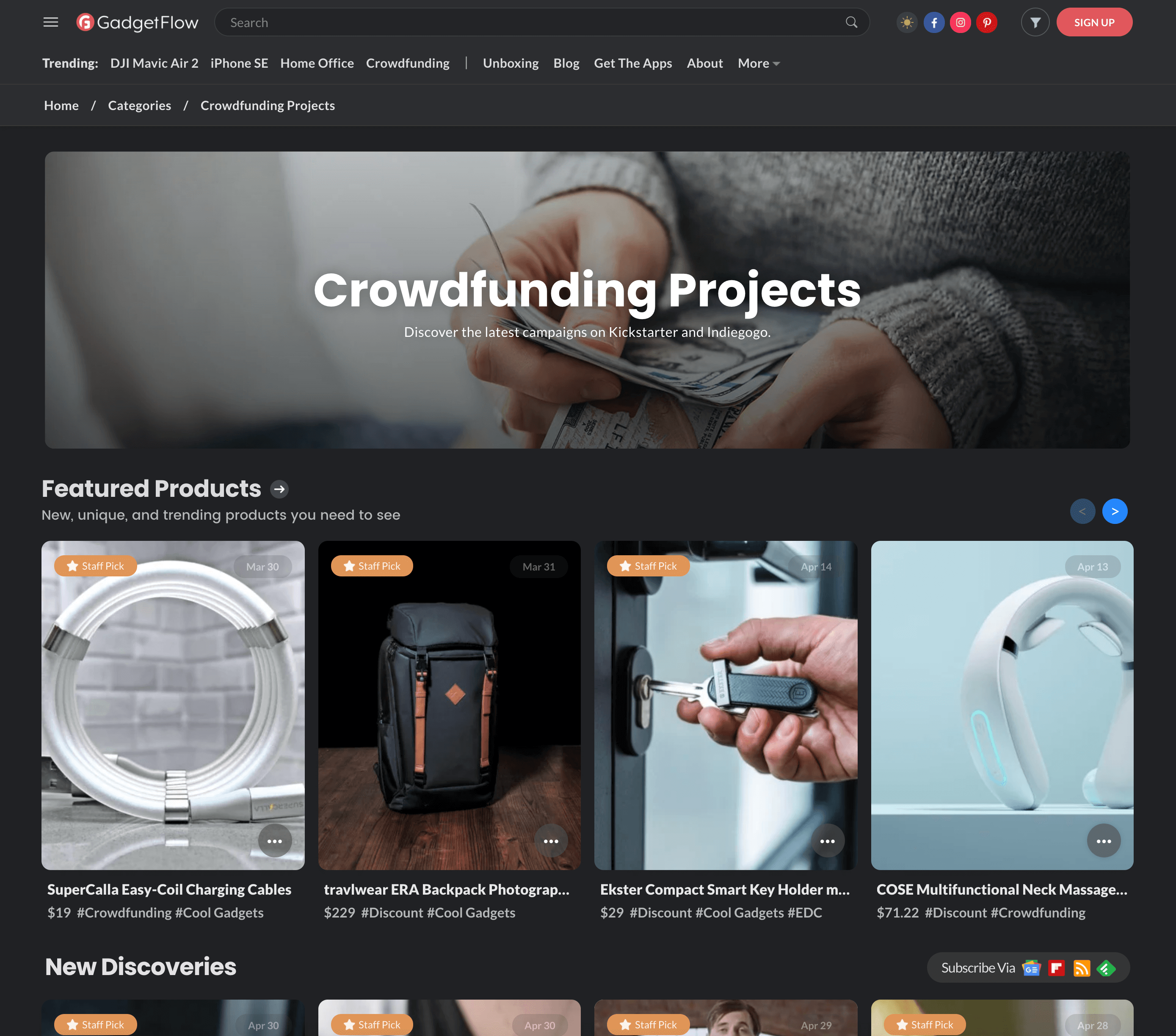 Crowdfunding Projects