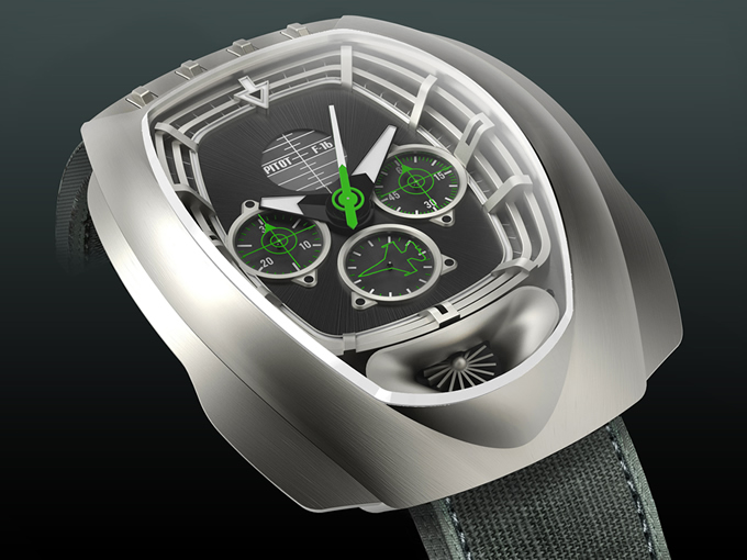 Pitot F16 Watch Prototype