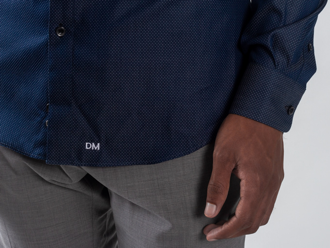 AI Tailored Nanotech Dress Shirt