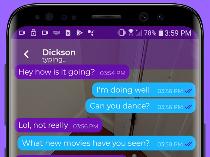 Smango AR messaging app